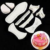 9tlg. Kunststoff 3D Damen Schuhe High Heels Ausstecher Form Fondant Kuchen Backen Ausstechform Dekor Tools Zuckerwerkzeug für 9tlg. Kunststoff 3D Damen Schuhe High Heels Ausstecher Form Fondant Kuchen Backen Ausstechform Dekor Tools Zuckerwerkzeug