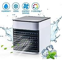 FORMIZON Mini Climatiseur Portable Ventilateur, 3 EN 1 USB Refroidisseur D'air Portable Ventilateur, Humidificateur, Purificateur, Air Cooler pour Maison/Bureau/Camping
