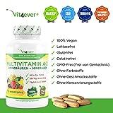 Multivitamin A-Z – 360 Tabletten – 32 Vitamine & Mineralien – 360 Tage Versorgung – Täglich nur 1 Tablette – Mulitvitamine – Vitamin C, Eisen, Vitamin E, Zink, Vitamin B3, Niacin, Magnesium, Vitamin B5, Vitamin D3, OPC, Traubenkernextrakt, Glutamin, Vitamin B6, Alpha-Liponsäure, Vitamin B1, Vitamin B2, Vitamin B3, Vitamin D3, Vitamin A, Folsäure, Kupfer, Vitamin B12, Selen, Biotin … - 5