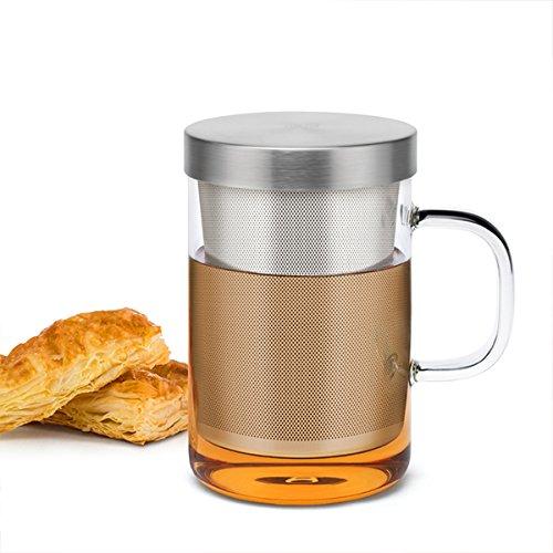 Samadoyo taza de té de cristal de borosilicato de...