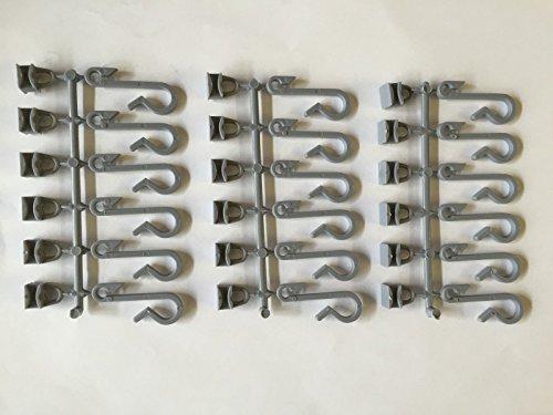 18x grau Ersatz Duschvorhang Haken für Glider Schienen