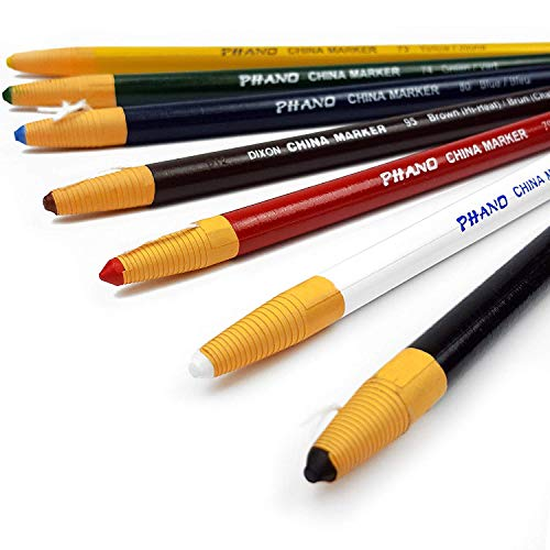 Dixon China-Wachsmarkstifte / China Marker, nicht toxisch, hochwertig, diverse Farben, 7Stück 7 China