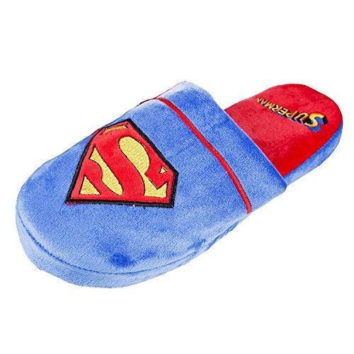 Offizielle DC Comics Superman Klassiker Logo Erwachsener Mule Beleg an Hausschuhe - 2 Größen (EU 42-45)