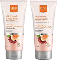 VLCC Witch Hazel & Rose Water Gentle Face Wash 2 X 2 X 150 ml, Pack