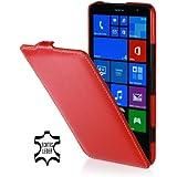 StilGut UltraSlim Case, Tasche aus Leder für Nokia Lumia 1320, rot