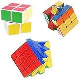 Mayatra's Combo Of Shengshou 2x2x2, Stickerless 3x3 & 4x4 Rubik Speed Cube Puzzle (3 Cubes)