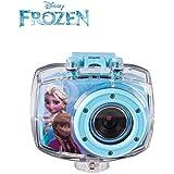 Camara deportiva infantil Frozen de Disney, sumergible y resistente al agua, camara digital con grabacion de video HD a 720p, con los personajes Anna y Elsa