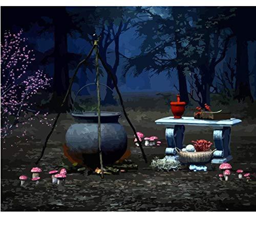 GUOXIN12 Rahmen Halloween DIY malerei by Anzahl kit Moderne wandkunst Bild Kalligraphie malerei für wohnkultur, DIY gerahmt 40X50 cm