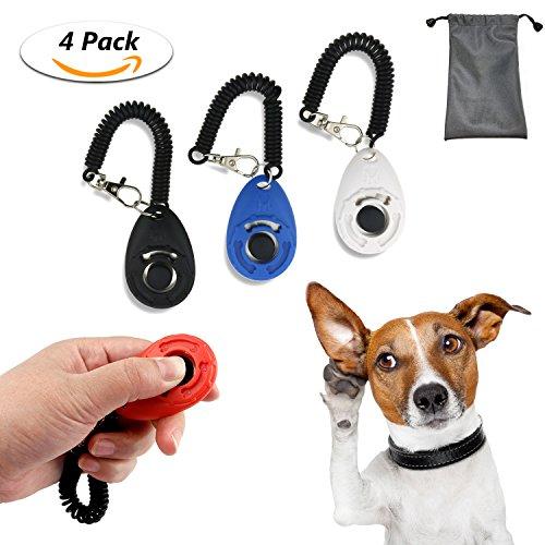 TedGem Klicker 4 Stück Hundetraining Hundeerziehung Klicker mit Handgelenk Band,Klicker für Hunde, Training Klicker, Puppy Training Clickers mit Handgelenkband Clicker (klein)