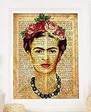 Frida Kahlo gestaltete Grafik mit der Definition von Amistad. Plakat mit Bild von Frida Kahlo mit braunem Hintergrund in A3 Kunstdruck des mythischen Malers Frida Kahlo. Definitionsblatt. Inneneinrichtung. Rahmen zum Rahmen. Papier 250 Gramm hohe Qualität. Dekorieren Sie Ihr Wohnzimmer, Schlafzimmer oder machen Sie das perfekte Geschenk.