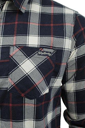 ... Herren Flannelmuster Hemd von Tokyo Laundry 'Callaghan', langärmlig Rote  ...