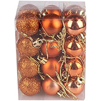 VECDY Christmas Bauble Gift 30mm Christmas Xmas Tree Ball Bauble Hanging Home Party Ornament Decor