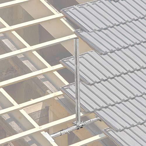 PremiumX Dachsparrenmasthalter 100 cm Ø 48 mm Mast Stahl feuerverzinkt SAT Dach Sparren Halter verstellbar 40 – 70 cm Aufsparrenhalter Dachsparrenhalter Sparrenhalter - 2