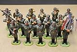 Spielzeug-Millitärkapelle -16 handcolorierte Elastolin-Figuren von Preiser