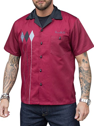 Rumble59 Bowling Shirt - Rebel Rods (Rod Genaue)