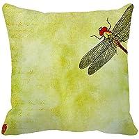 Okoukiu tela di cotone federa copricuscino vintage Dragonfly case cuscino