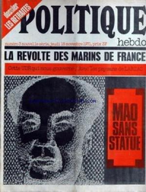Le Jeune Staline - POLITIQUE HEBDO [No 3] du 18/11/1971 -