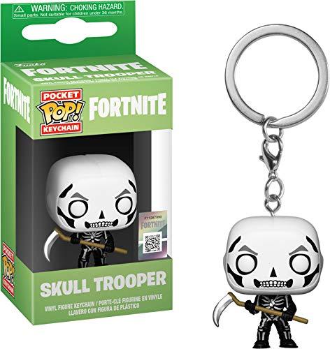 Funko- Pocket Pop Fortnite Llavero de Vinilo con Anilla Skull Trooper,