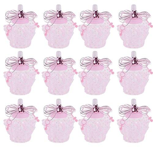 FLAMEER 12 Stücke Süßigkeiten Boxen Babyparty-Mädchen-Junge Süßigkeit-Kasten - Rosa - Baby-dusche-bevorzugung Süßigkeiten