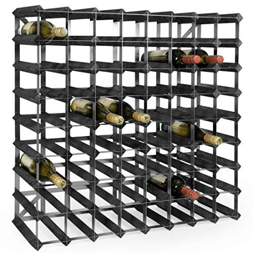 Weinregal/Flaschenregal System TREND, für 72 Fl, Holz Kiefer schwarz gebeizt, komplett montiert,...