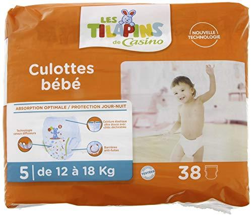 TILAPINS Culotte Bébé Taille 5 Junior 12 18 kg