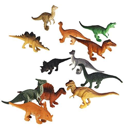 Set 12pcs Rettili Animale Modello Di Dinosauro Giocattolo in Plastica - Go Go Animali Set