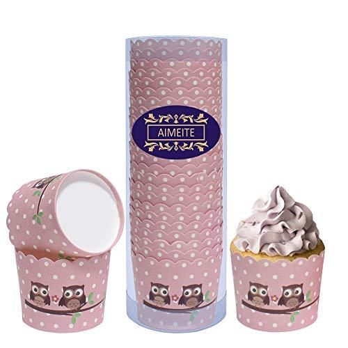 pier Cupcake Förmchen,Cupcake Liners Dessert Muffinform Papier Backform Cupcake Wrappers Cupcake Papier Backförmchen Muffin Cases (Rosa Stil 2) ()