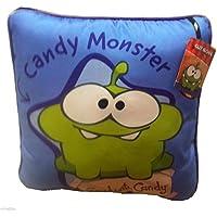 """Cut the Rope Cortar la cuerda 12""""cojín cuadrado almohada–Om Nom & Candy Monster"""
