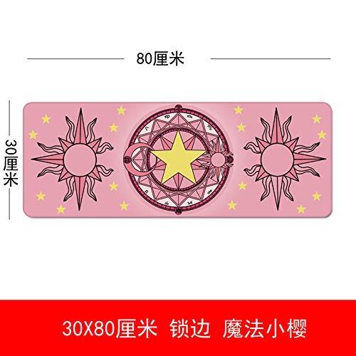 Xiang Home E-Sports Mauspad süßes übergroßes Spiel, Anzug 3080 Magic Sakura, 300x700x3mm Sakura Magic