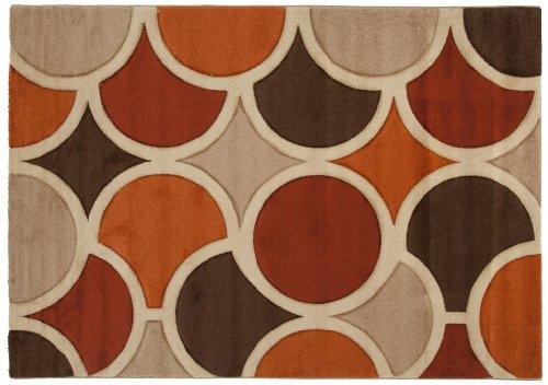 ABC Tappeti Tapis Sixties Rouge/Beige/Marron 150 x 220 cm