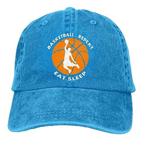 GHEDPO Play Basketball Denim Baseball Caps Hat Adjustable Cotton Sport Strap Cap for Men Women