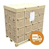 Premium-Buchenholz, 48 Kartons auf Palette