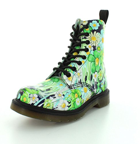 Dr. Martens Pascal Green Paint Slick Backhand 21088300 Verde