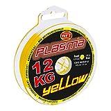 WFT KG Plasma round 150m geflochtene Schnur 0,08mm-0,36mm, Durchmesser:0.14mm, Farbe:Gelb