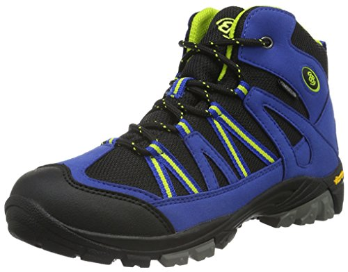 EB kids OHIO HIGH, Jungen Trekking- & Wanderstiefel, Blau (Blau/schwarz/lemon), 35 EU (2.5 Kinder UK)