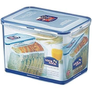Lock & Lock Rectangular Storage Container - Clear/Blue, 3.9 L