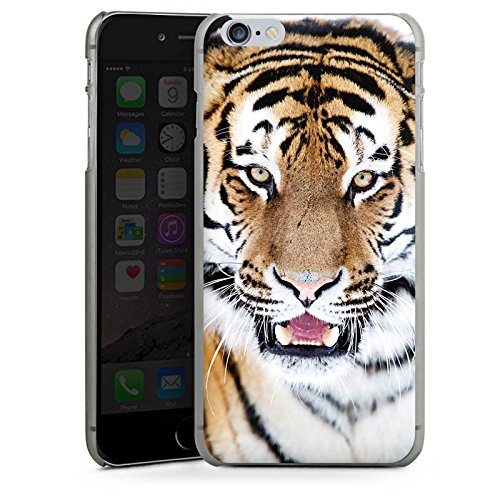 Apple iPhone X Silikon Hülle Case Schutzhülle Tiger Raubkatze Großkatze Hard Case anthrazit-klar