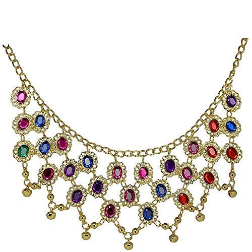 YANGDJ Halskette Bauchtanz Kostüm Halskette Exotische Bauchtanz Kleid Schmuck Zubehör Mesh Halskette - Bauchtanz Kostüm Schmuck