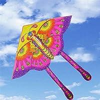 GUNDAN 50 Cm Nylon Arco Iris Mariposa Cometa Niños Plegables Al Aire Libre Kite Truco Kite