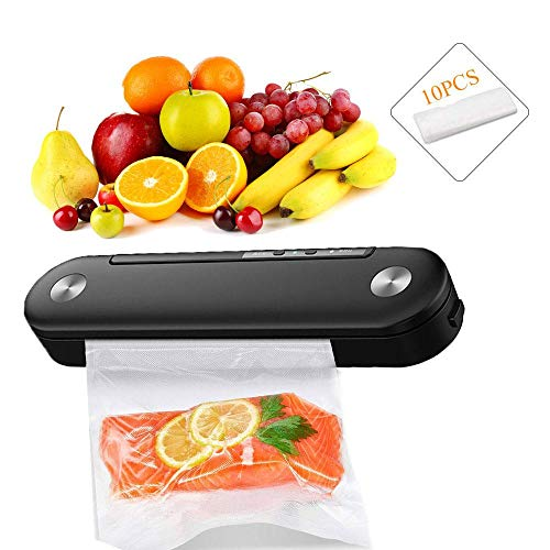 OOOUSE Vacuum Sealer Machine, Automatic Food Sealer Machine Vacuum Air Sealing System for Food Savers Storage, Food Preservation Machine with 10 Bags