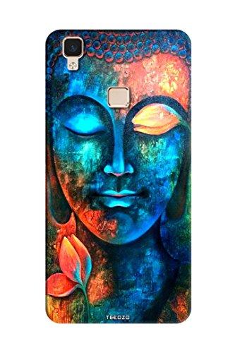 Tecozo Designer Printed Back Cover/Hard Case for Vivo V3 Max (Lord Budhha case Design/Spiritual)
