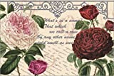 Posterlounge Leinwandbild 180 x 120 cm: Shakespeare Zitat der Rose von Gail Fraser/MGL Licensing - fertiges Wandbild, Bild auf Keilrahmen, Fertigbild auf echter Leinwand, Leinwanddruck