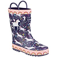 Cotswold Sprinkle Boys Synthetic Material Wellies Dark Blue & White