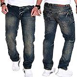 Unbekannt Herren Jeans Hose Clubwear Cargo Chino Freizeit Denim (Dunkelblau (J.2.9 905), W32/L32)