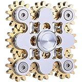 LED Light Fidget Spinner à main Haute vitesse Rotation durable Torqbar Finger Toy EDC Focus Gyro cadeau pour soulager le stress et l'anxiété Puzzle Toy Jouer aux mains