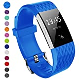 Fitbit Charge 2 Cinturino, Yometome Classic Fitness Tracker Accessori Fascia di attività Braccialetto di ricambio Smart Fitness Il materiale è un design TPE morbido/sicuro per il tuo Fitbit Charge 2