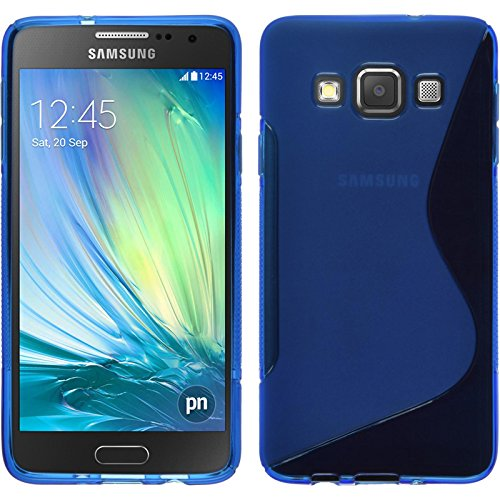 PhoneNatic Custodia Samsung Galaxy A3 (A300) Cover blu S-Style Galaxy A3 (A300) in silicone + pellicola protettiva
