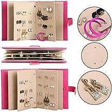 f32056332fa25 Ducomi Organiseur Boucles d oreilles Pendantes en Forme de Livre pour 48  Paires – Porte