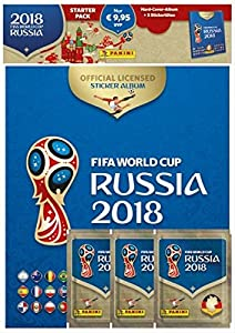 Panini 709951FIFA World Cup Russia 2018Pegatinas coleccionables (Starter Set, Hard Cover álbum y 3Booster