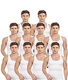 BLIVE Men's Premium Cotton Vest (10, Med...